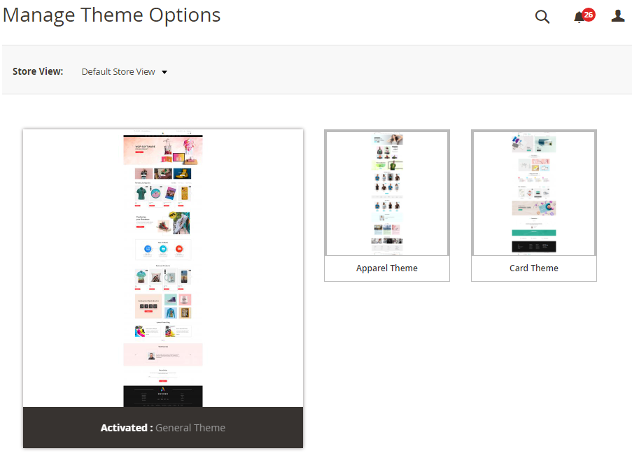 Preloaded Themes