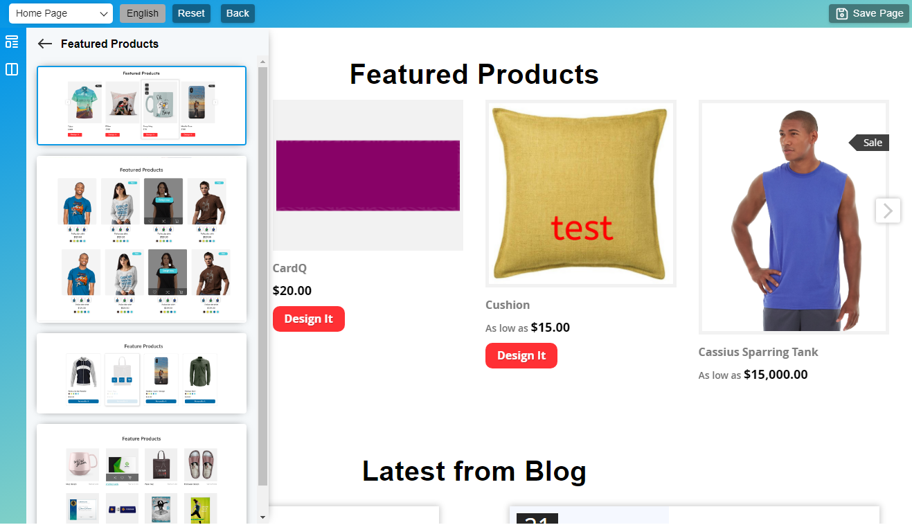 Featured Products block