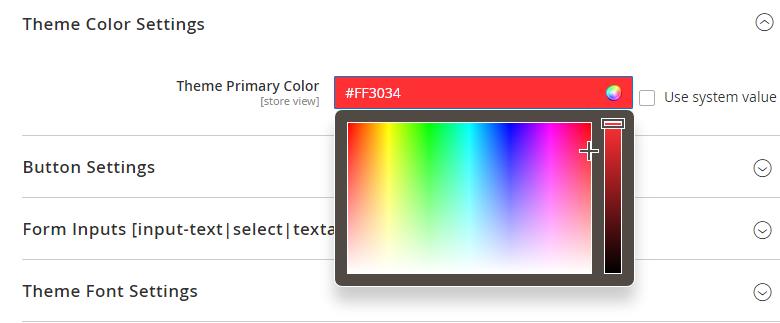 Theme Color Settings