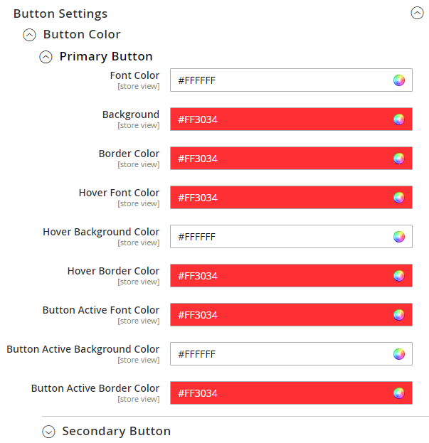 Button Settings -> Button Color(Primary/Secondary)