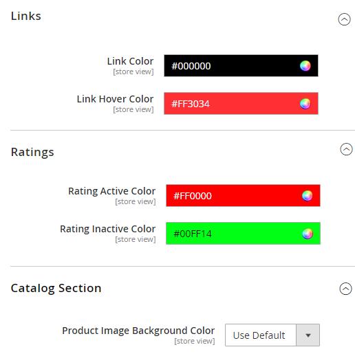 Link, Ratings & Catalog