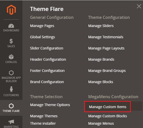 Manage Custom Items