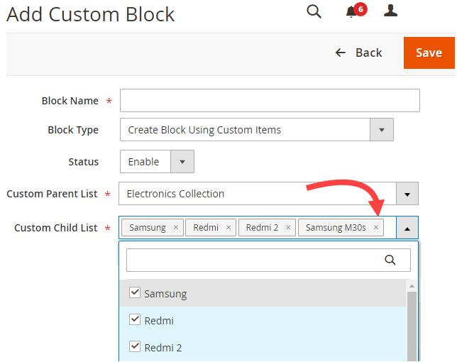 Select Custom Items