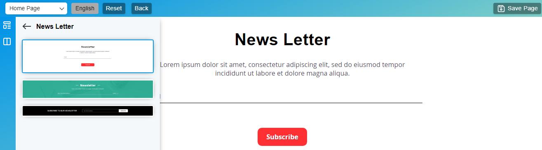 Newsletter block