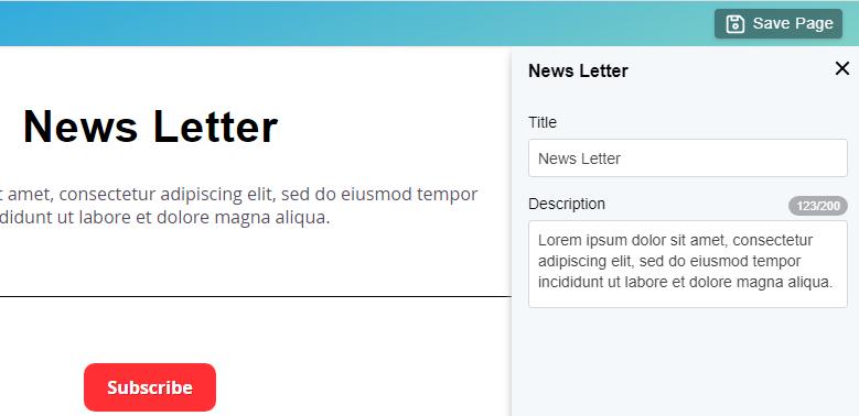 Edit Newsletter block details