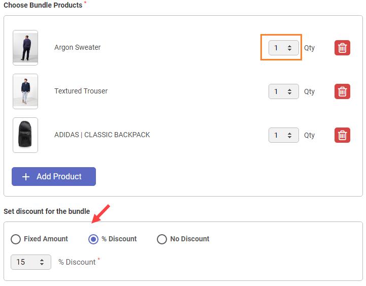 3.Set Discount for Bundle