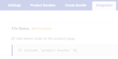 Product Bundle Integration