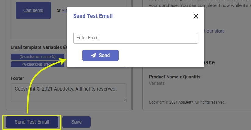 Send Test Email