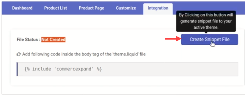Create Snippet File