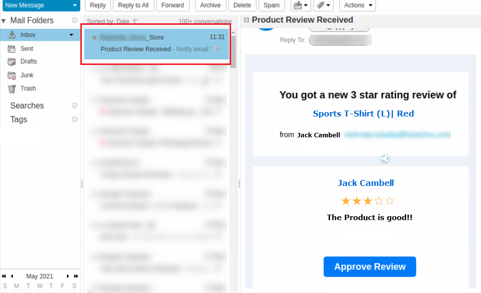 Shopify app to manage the product reviews