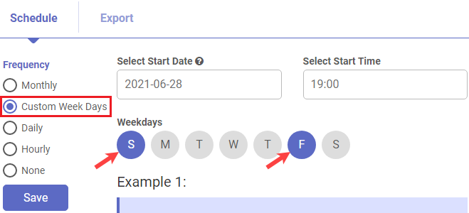 Shopify app Auto schedule exporting orders