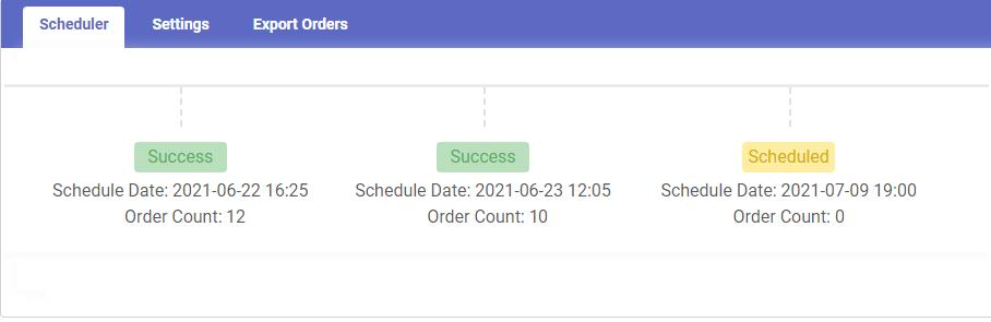 Shopify app Auto scheduler status