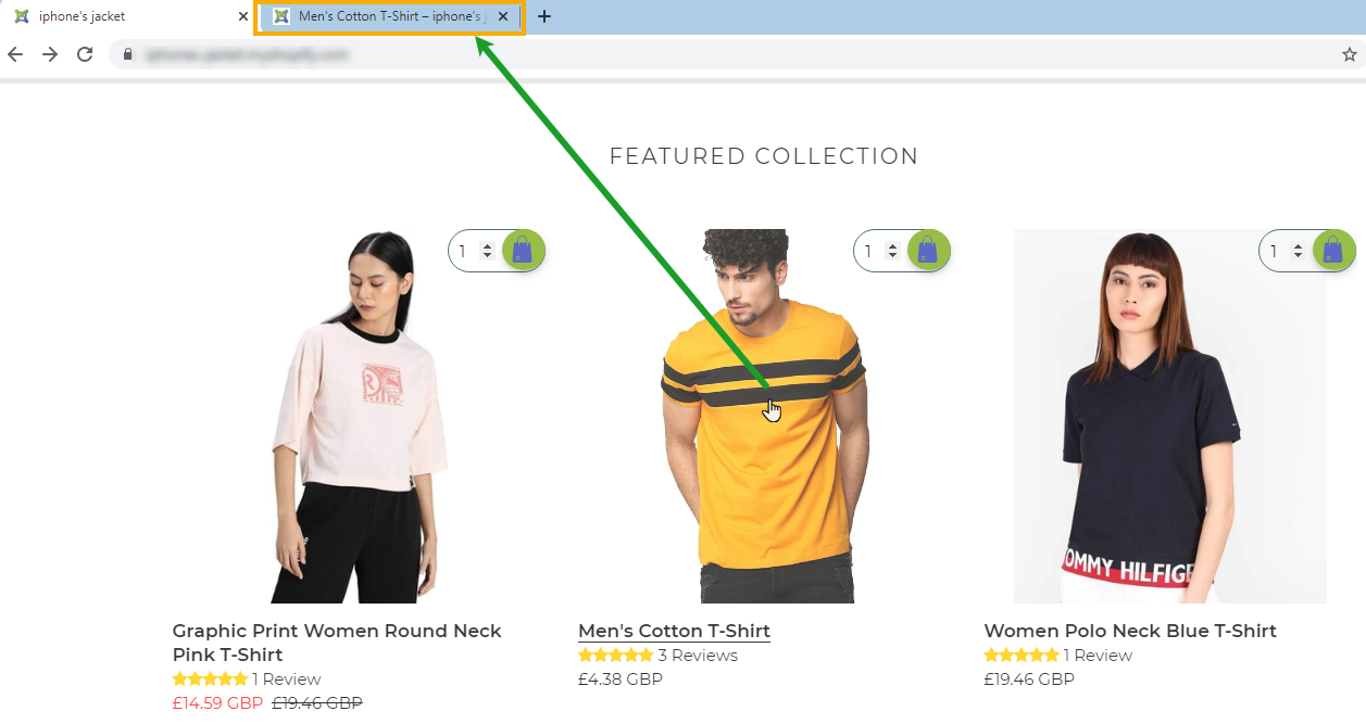 Shopify app for online store to open any store link in a new tab